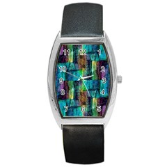 Abstract Square Wall Barrel Metal Watches