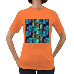 Abstract Square Wall Women s Dark T Shirt