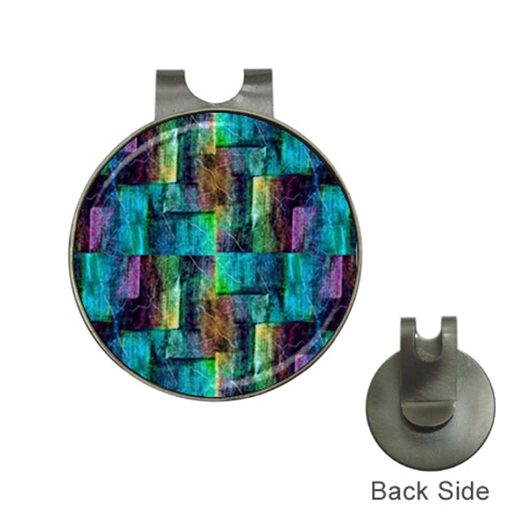 Abstract Square Wall Hat Clips with Golf Markers