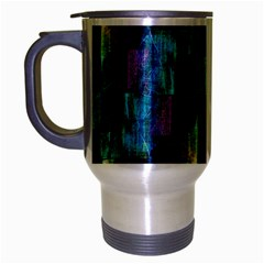 Abstract Square Wall Travel Mug (silver Gray)