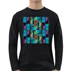 Abstract Square Wall Long Sleeve Dark T Shirts