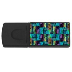 Abstract Square Wall USB Flash Drive Rectangular (4 GB)
