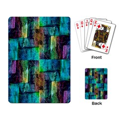 Abstract Square Wall Playing Card