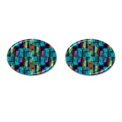 Abstract Square Wall Cufflinks (Oval)