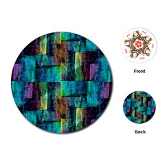 Abstract Square Wall Playing Cards (round)