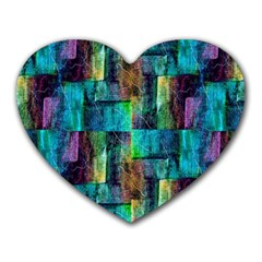 Abstract Square Wall Heart Mousepads