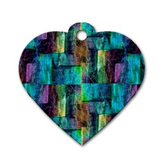 Abstract Square Wall Dog Tag Heart (Two Sides)
