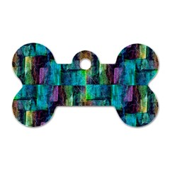 Abstract Square Wall Dog Tag Bone (one Side)