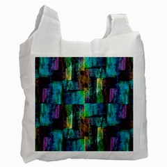 Abstract Square Wall Recycle Bag (one Side)