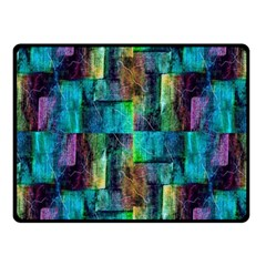 Abstract Square Wall Fleece Blanket (Small)