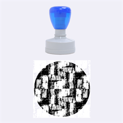 Abstract Square Wall Rubber Round Stamps (medium)