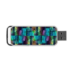 Abstract Square Wall Portable Usb Flash (two Sides)