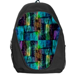 Abstract Square Wall Backpack Bag