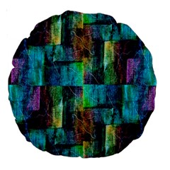 Abstract Square Wall Large 18  Premium Round Cushions