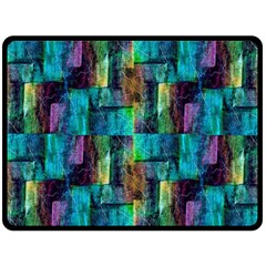 Abstract Square Wall Double Sided Fleece Blanket (large)