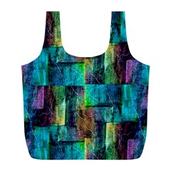Abstract Square Wall Full Print Recycle Bags (L)