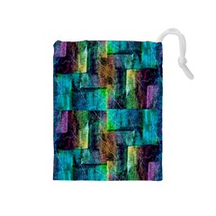 Abstract Square Wall Drawstring Pouches (medium)