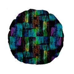 Abstract Square Wall Standard 15  Premium Flano Round Cushions