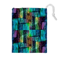 Abstract Square Wall Drawstring Pouches (Extra Large)
