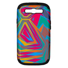 Distorted shapesSamsung Galaxy S III Hardshell Case (PC+Silicone)
