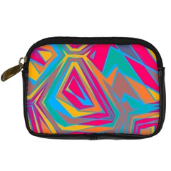 Distorted shapes Digital Camera Leather Case