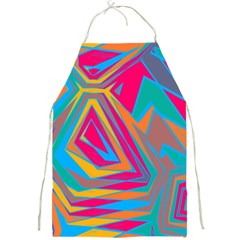 Distorted shapesFull Print Apron
