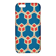 Orange shapes on a blue background			iPhone 6/6S TPU Case