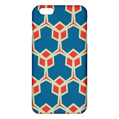 Orange shapes on a blue background			iPhone 6 Plus/6S Plus TPU Case