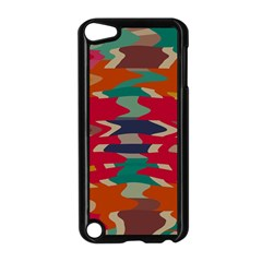 Retro colors distorted shapesApple iPod Touch 5 Case (Black)