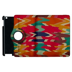 Retro colors distorted shapes			Apple iPad 2 Flip 360 Case