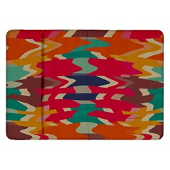 Retro colors distorted shapes			Samsung Galaxy Tab 8.9  P7300 Flip Case