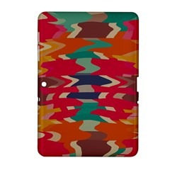 Retro colors distorted shapes			Samsung Galaxy Tab 2 (10.1 ) P5100 Hardshell Case