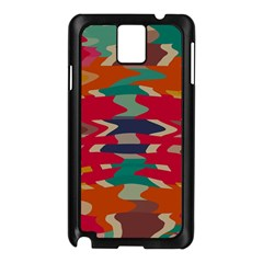 Retro colors distorted shapes			Samsung Galaxy Note 3 N9005 Case (Black)