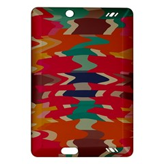 Retro colors distorted shapes			Kindle Fire HD (2013) Hardshell Case