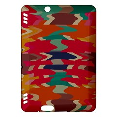 Retro colors distorted shapes			Kindle Fire HDX Hardshell Case