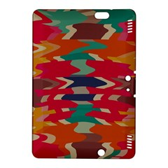 Retro colors distorted shapes			Kindle Fire HDX 8.9  Hardshell Case