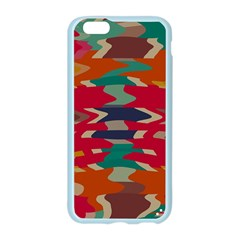 Retro colors distorted shapesApple Seamless iPhone 6/6S Case (Color)