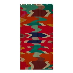 Retro colors distorted shapesShower Curtain 36  x 72