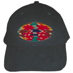 Retro colors distorted shapesBlack Cap
