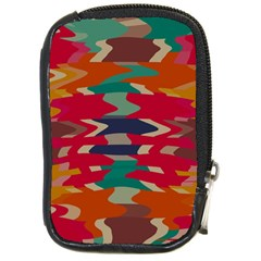 Retro colors distorted shapes			Compact Camera Leather Case