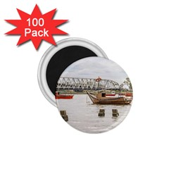 Boats At Santa Lucia River In Montevideo Uruguay 1.75  Magnets (100 pack)
