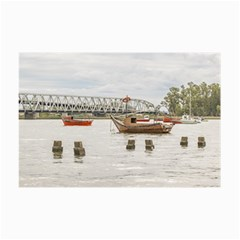 Boats At Santa Lucia River In Montevideo Uruguay Collage 12  x 18