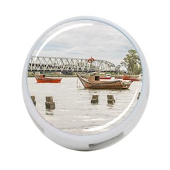 Boats At Santa Lucia River In Montevideo Uruguay 4-Port USB Hub (Two Sides)