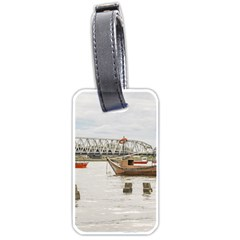 Boats At Santa Lucia River In Montevideo Uruguay Luggage Tags (One Side)