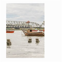 Boats At Santa Lucia River In Montevideo Uruguay Large Garden Flag (Two Sides)