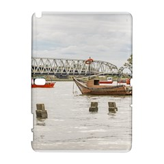 Boats At Santa Lucia River In Montevideo Uruguay Samsung Galaxy Note 10.1 (P600) Hardshell Case