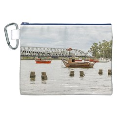 Boats At Santa Lucia River In Montevideo Uruguay Canvas Cosmetic Bag (XXL)