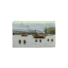 Boats At Santa Lucia River In Montevideo Uruguay Cosmetic Bag (XS)