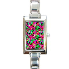 Colorful Leaves Rectangle Italian Charm Watches