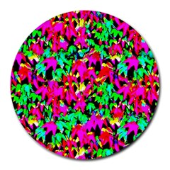 Colorful Leaves Round Mousepads